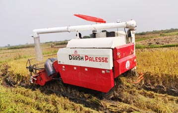 Multi crop track combine harvester launching in India